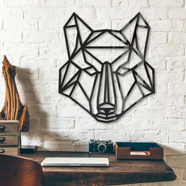 Origami Wolf – acrylic