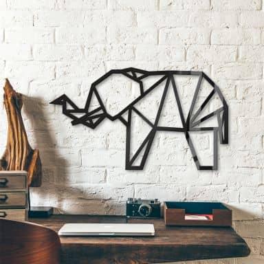 Decoro in acrilico origami Elefante