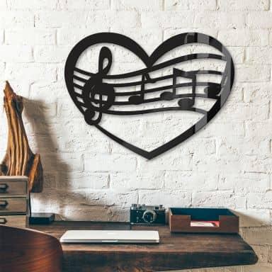 Coeur Musical - Décoration verre Acrylique