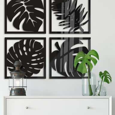 Acrylbuchstaben - Blätter Tropical Set