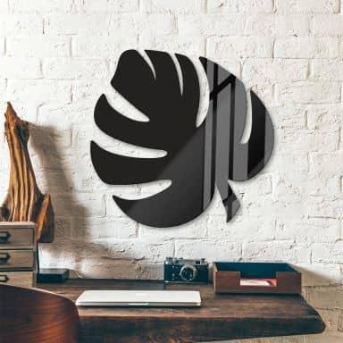 Décoration en verre acrylique - Feuille de Monstera 03