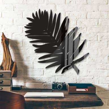 Décoration en verre acrylique - Feuille de palmier