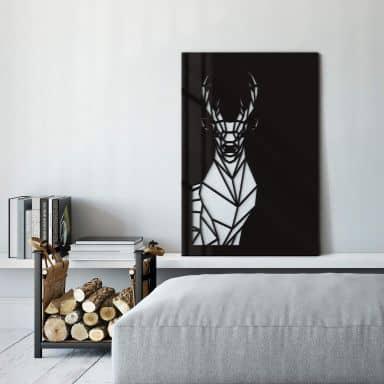 Decoro in acrilico - Origami cervo