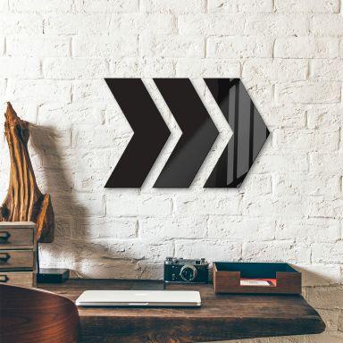 Acrylic Art - Direction Arrows (set of 3)