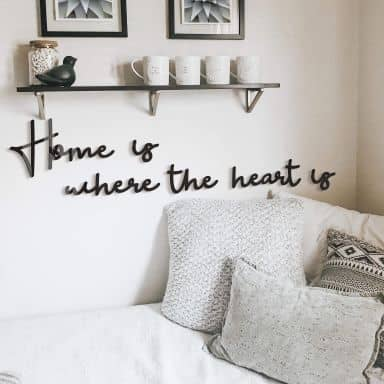 Wanddecoratie Home is where the heart is