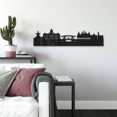 Acryldecoratie Skyline Amsterdam