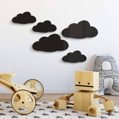 Acryldeko Wolken-Set (5-teilig)