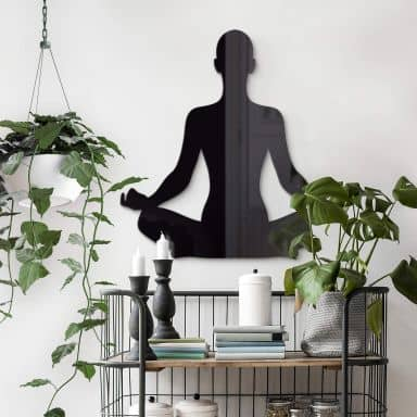 Acryldeko Yoga Pose sitzend 01