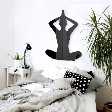 Acryldeko Yoga Pose sitzend 02