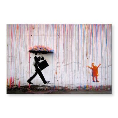 Acrylglasbild Banksy - Coloured Rain