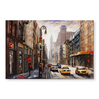 Acrylglas Red Umbrellas in New York