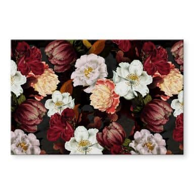 Tableau en verre acrylique UN Designs - Arrangement floral