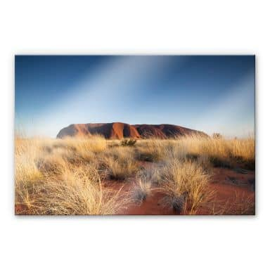 Acrylglasbild Colombo - Ayers Rock bei Sonnenuntergang