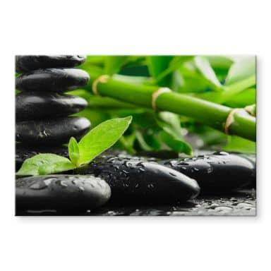 Acrylglasbild Black Zen Stones
