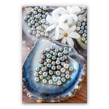 Acrylglasbild Colombo - Schwarze Perlen von Tahiti
