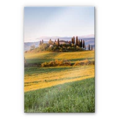 Acrylglasbild Colombo – Sonnenuntergang in der Toskana