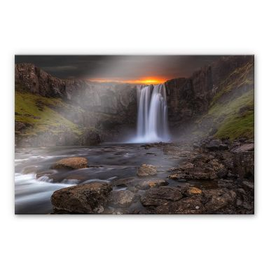 Acrylglasbild Cuadrado - Stream