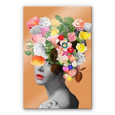 Acrylglasbild Feldmann - Orange Lady