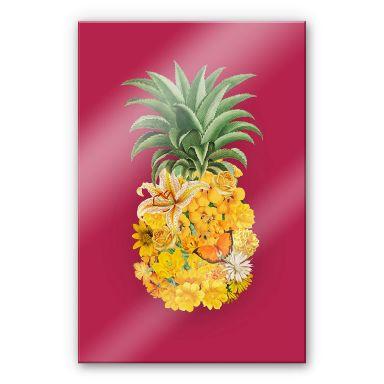 Acrylglasbild Feldmann - Pineapple Pink Floral
