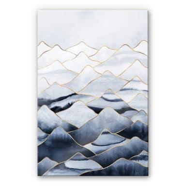 Acrylglasbild Fredriksson - Die Berge