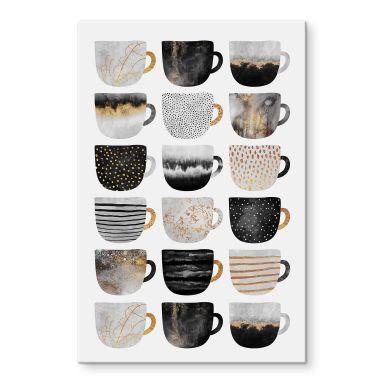 Acrylglasbild Fredriksson - Kaffeetassen: Pretty Black & Gold