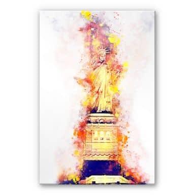 Acrylglasbild Hugonnard - Watercolour: Statue of Liberty