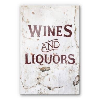 Acrylglasbild Hugonnard - Wines and Liquors