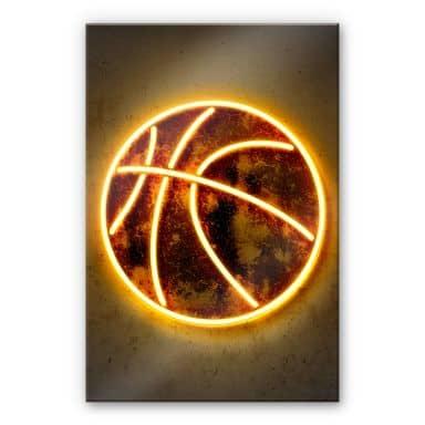 Acrylglasbild Mielu - Basketball