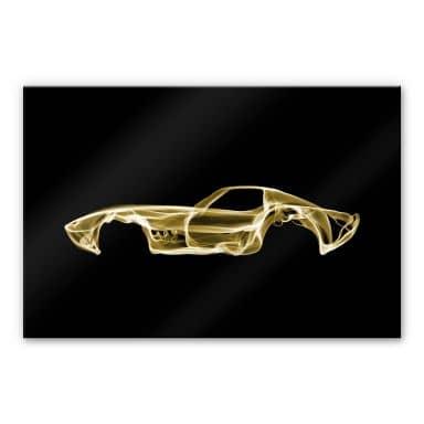 Acrylglasbild Mielu - Yellow car