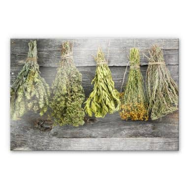 Dried Herbs - Acrylic Glass