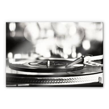 XXL Wandbild Vinyl Record on Turntables