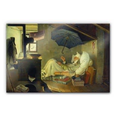 Tableau en verre acrylique - Spitzweg -Le poète pauvre