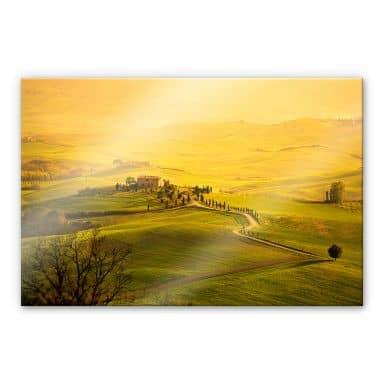 Acrylglasbild Weitblick in der Toskana
