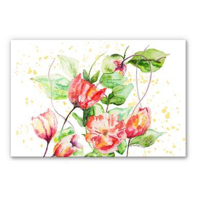 Acrylglasbild Toetzke - Gartenblumen