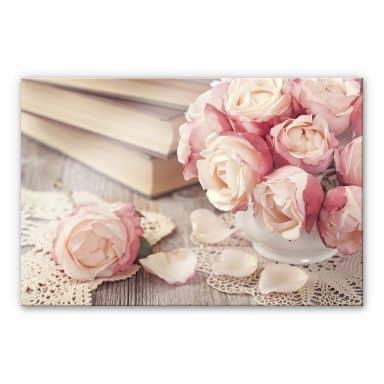 Tableau en verre acrylique - Roses