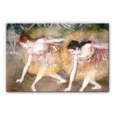 Acrylglasbild Degas - Sich verbeugende Ballerinen