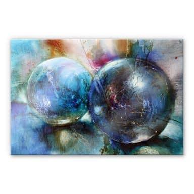 Acrylglasbild Schmucker - Blaue Murmeln