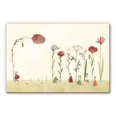 Acrylglasbild Leffler - Blumensamen