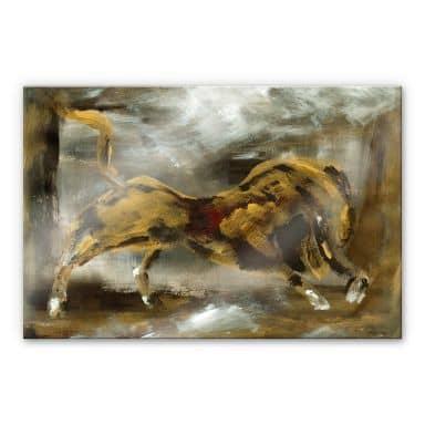 Acrylglasbild Niksic - Der goldene Stier