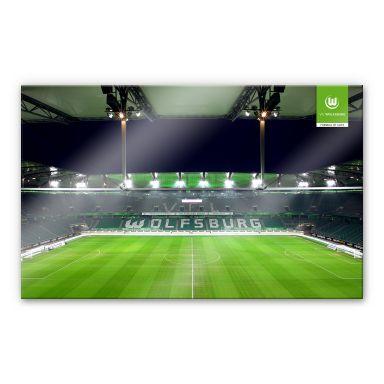 XXL Wandbild VfL Wolfsburg Volkswagen Arena Tribüne