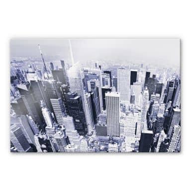 Acrylglasbild Manhattan Luftbild