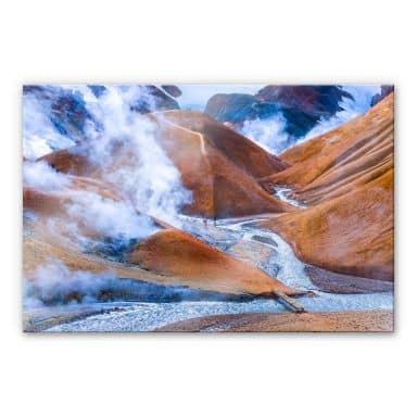 XXL Wandbild Vulkanisches Bergland Islands