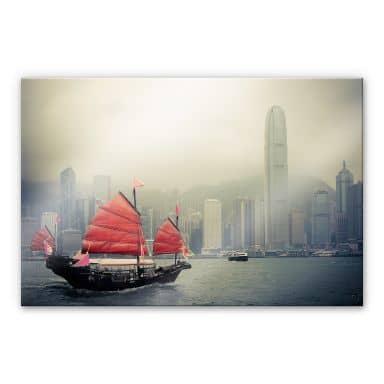 Sailing in Hongkong XXL Wall picture