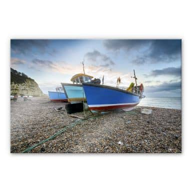 XXL Wall Picture Fishing Boats