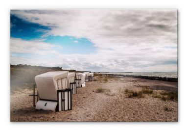 Acrylglasbild Strandkörbe auf Hiddensee
