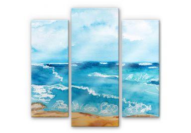 Acrylic glass Toetzke - Sounds of the sea (3-parts)
