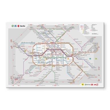 Acrylglasbild BVG Berlin - Netzplan Berlin