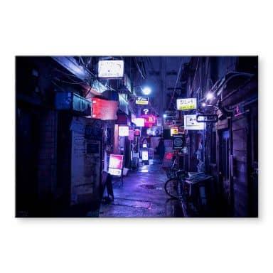 Acrylglasbild Hugonnard - Nachtleben in Japan