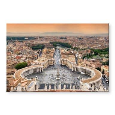 Acrylglasbild Hugonnard - Petersplatz Rom