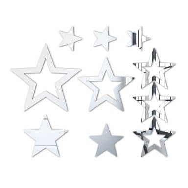 Wandspiegel Spiegel Sternenset (10-teilig)